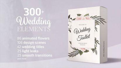 پروژه افترافکت مجموعه اجزای ساخت تیزر عروسی Wedding