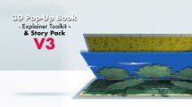 پروژه افترافکت تیزر تبلیغاتی با کتاب سه بعدی 3D Pop Up Book Explainer