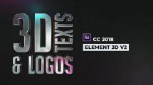 پروژه افترافکت نمایش لوگو و متن سه بعدی 3D Texts and Logos
