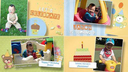 پروژه افترافکت تبریک تولد کودک Birthday Wishes for Kids