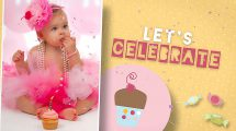 پروژه افترافکت تبریک تولد کودک دختر Birthday Wishes Girl