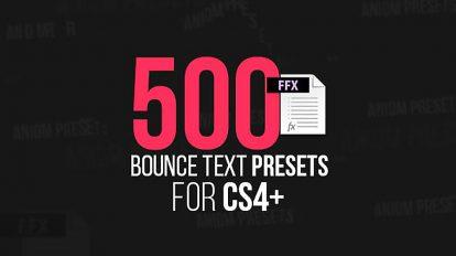 مجموعه پریست افترافکت متن متحرک پرشی Bounce Text Presets