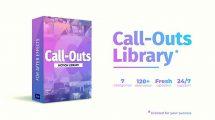 پروژه افترافکت کتابخانه اجزای فراخوانی Call Outs Library