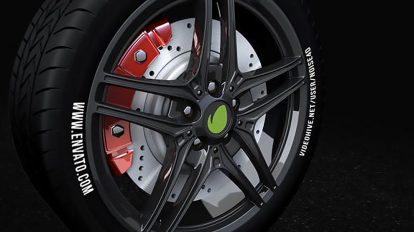 پروژه افترافکت نمایش لوگو با چرخ خودرو Car Wheel Automotive Logo