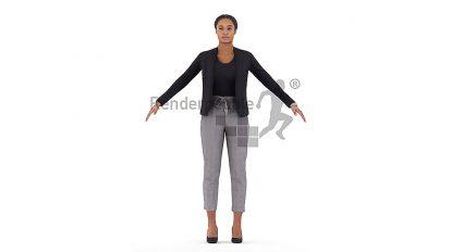 مدل سه بعدی ریگ شده زن Carla Rigged Woman