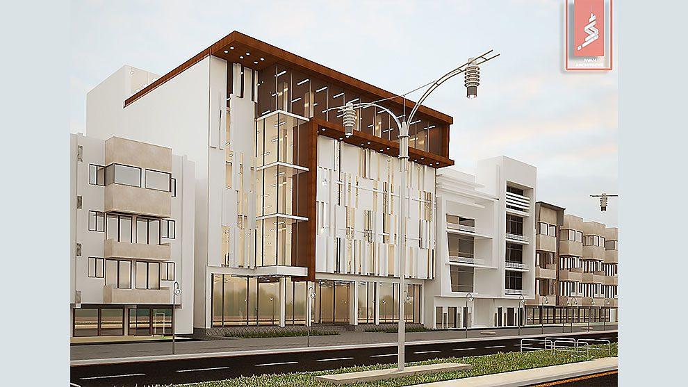 مدل سه بعدی ساختمان تجاری مدرن Commercial Modern Building