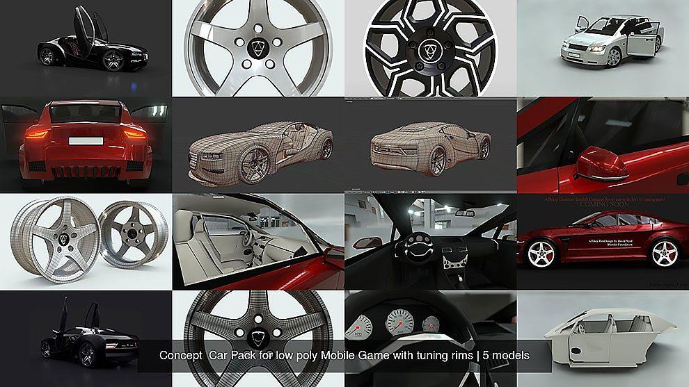 مجموعه مدل سه بعدی برای ساخت کانسپت خودرو Concept Car Pack