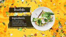 پروژه افترافکت تیزر تبلیغاتی کلاس آشپزی Cooking Classes