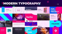 پروژه افترافکت نمایش تایپوگرافی Creative Typography