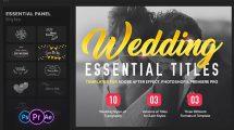 پروژه پریمیر عناوین متحرک عروسی Essential Wedding Titles