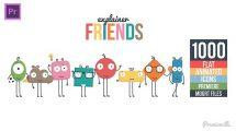 پروژه پریمیر ساخت تیزر تبلیغاتی Explainer Friends Essential Graphics