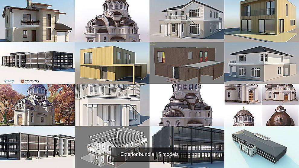 مجموعه مدل سه بعدی فضای خارجی Exterior Bundle