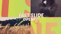 پروژه افترافکت افتتاحیه با نمایش سریع اسلاید Fast Slide Opener