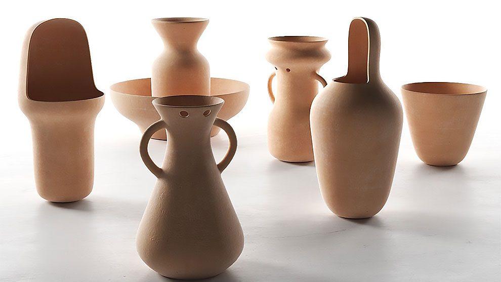 مجموعه مدل سه بعدی گلدان سفالی Gardenias Vases