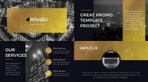 پروژه افترافکت پرزنتیشن طلایی Gold Presentation