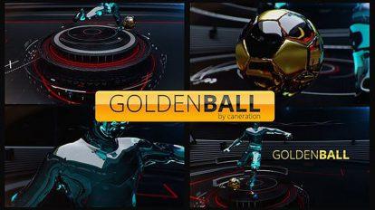 پروژه افترافکت افتتاحیه ورزشی با توپ طلایی Golden Ball Football Opener