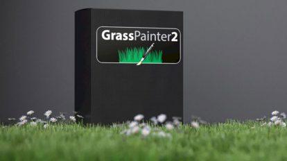 پلاگین سینمافوردی Grass Painter ابزار ساخت علف و سبزه