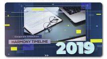 پروژه افترافکت اسلایدشو تایم لاین شرکتی Harmony Timeline Corporate