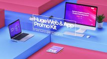 پروژه افترافکت تیزر تبلیغاتی اپلیکیشن Huge App Promo Kit