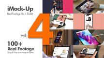 پروژه افترافکت مجموعه فوتیج موکاپ iMock-Up Real Footage Vol 4 Toolkit