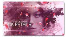 پروژه افترافکت اسلایدشو رمانتیک با گلبرگ Ink Petals Romantic