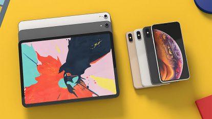 مجموعه مدل سه بعدی آیفون و آیپد iPhone XS Max and iPad Pro 2018