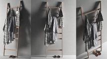 مدل سه بعدی آویز پله ای حوله Ladder with Towels 2