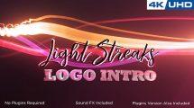 پروژه افترافکت نمایش لوگو با پرتوهای نور Light Streaks Logo Intro