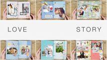 پروژه افترافکت آلبوم عکس عاشقانه Love Story Album