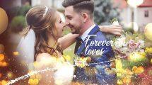 پروژه افترافکت اسلایدشو عکس عروسی Wedding Slideshow