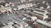 مجموعه مدل سه بعدی ساختمان های صنعتی Low Poly Buildings Industry