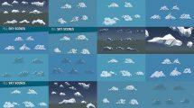 مجموعه مدل سه بعدی ابر Low Poly Cloud Collection
