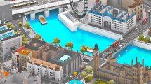 مجموعه مدل سه بعدی اجزای شهر لندن Low Poly London City