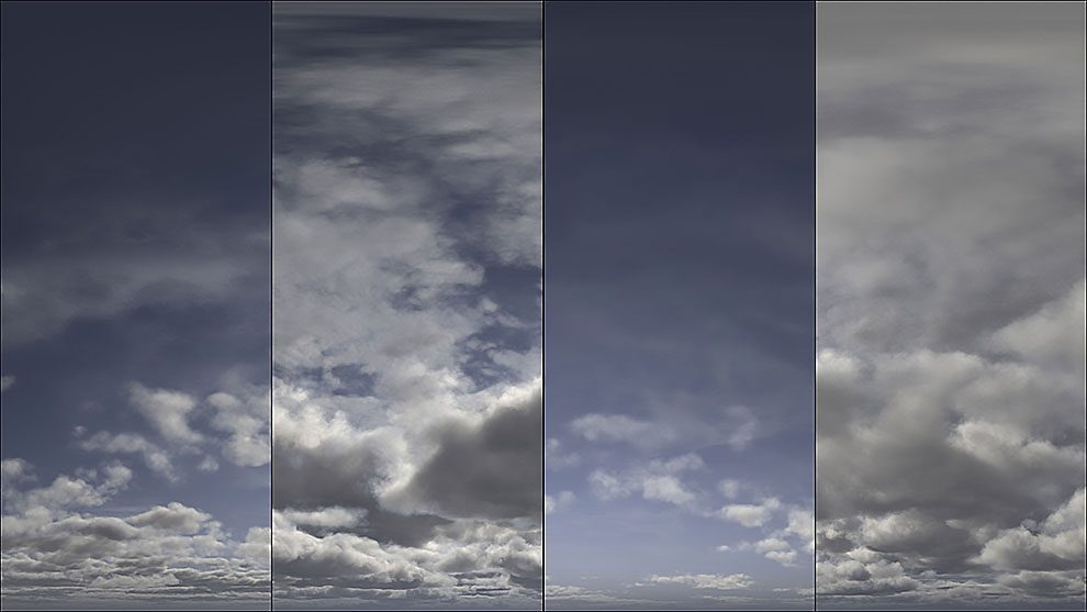 مجموعه 90 تصویر HDRI ابرهای آسمان
