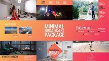 پروژه افترافکت برودکست مینیمال Minimal Broadcast Package