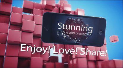 پروژه افترافکت پرزنتیشن اپلیکیشن موبایل Mobile App Presentation