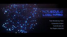پروژه افترافکت نمایش لوگو مولکولی Molecule Logo Intro