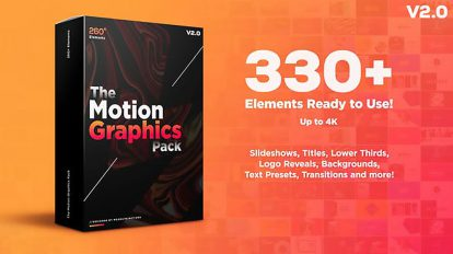 پروژه افترافکت مجموعه اجزای موشن گرافیک Motion Graphic Pack