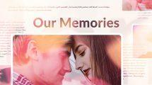 پروژه افترافکت اسلایدشو خاطرات عاشقانه Our Memories Slideshow