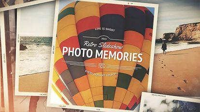 پروژه افترافکت اسلایدشو خاطرات Photo Memories Retro Slideshow