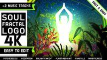 پروژه افترافکت نمایش لوگو با فراکتال Psychedelic Fractals Logo