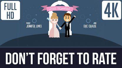 پروژه افترافکت افتتاحیه کمدی عروسی Romantic Comedy Weddings