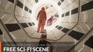 صحنه آماده سه بعدی علمی تخیلی Sci-Fi Scene