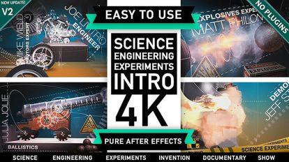 پروژه افترافکت افتتاحیه علمی و مهندسی Science Engineering Experiments