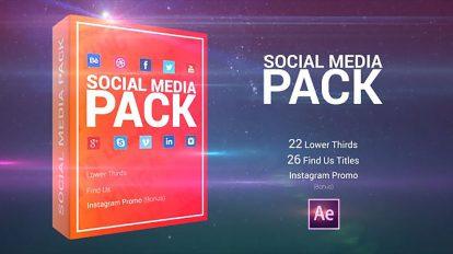 پروژه افترافکت مجموعه اجزای ویدیویی شبکه اجتماعی Social Media Pack