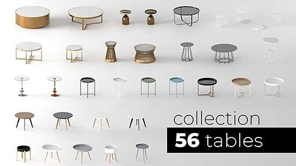 مجموعه مدل سه بعدی میز Tables Collection