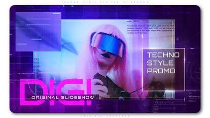 پروژه افترافکت اسلایدشو دیجیتال Techno Style Digital Slideshow