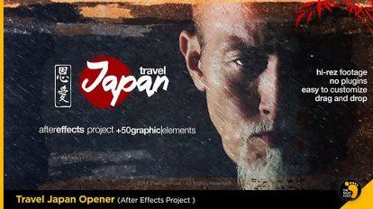پروژه افترافکت افتتاحیه به سبک ژاپنی Travel Japan Tradition Opener