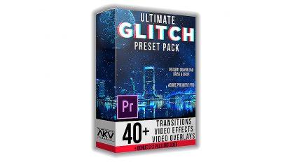 پروژه پریمیر مجموعه افکت گلیچ Ultimate Glitch Pack