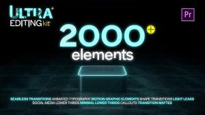 پروژه پریمیر مجموعه اجزای موشن گرافیک Ultra Editing Kit